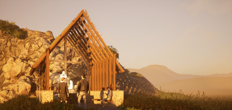 Kaplnka v exteriéri, Jaklovce